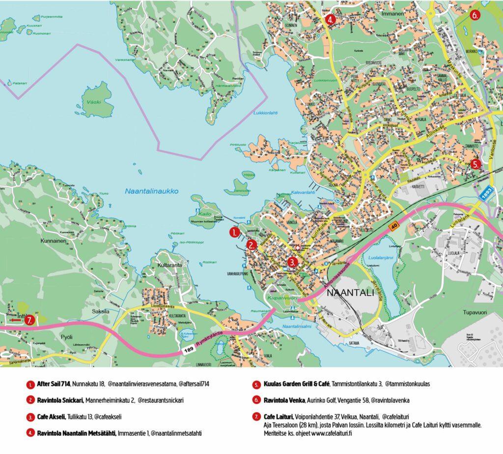 Smaku Naantali 2021 kartta